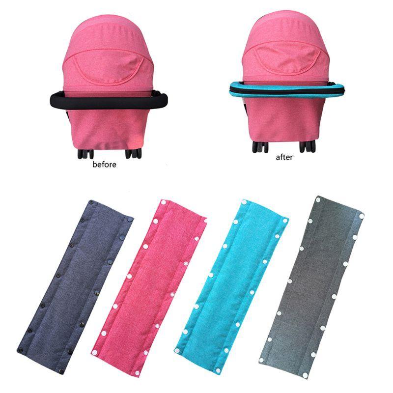 Baby Pram Pushchair Stroller Armrest Case Handle Cotton Linen Protective Cover