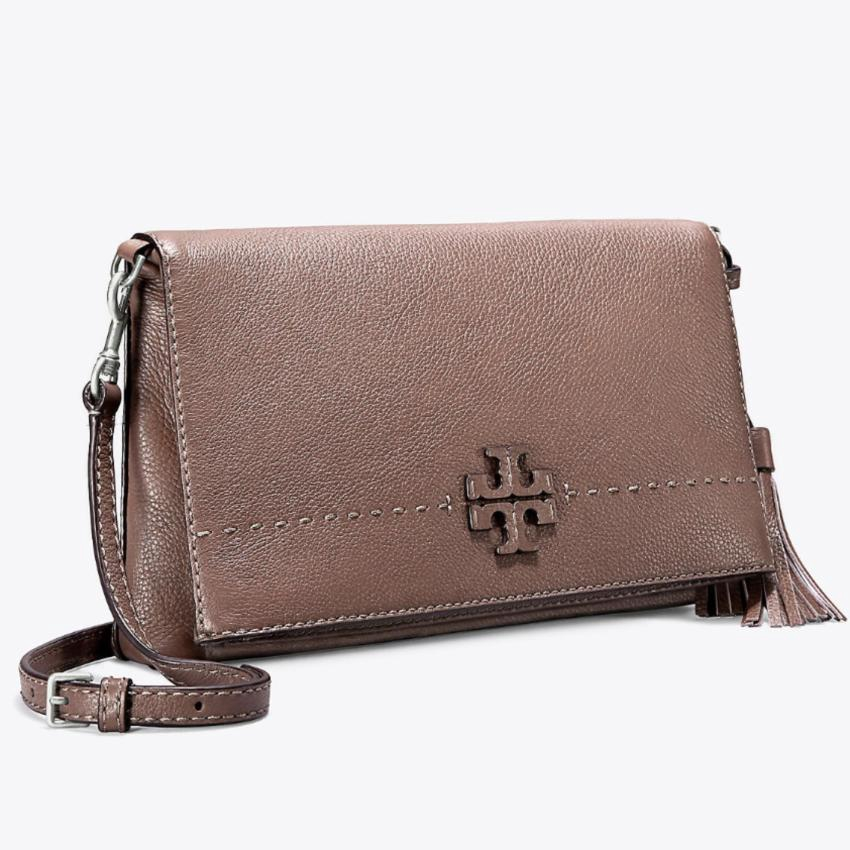 4b0ff92f6aa TORY BURCH MCGRAW MIXED SUEDE SHOULDER BAG (OLIVE GREEN)
