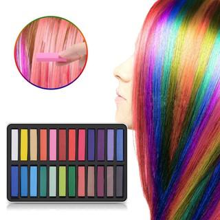 Hair Chalk Set, 24 Hair Dye Colors Non-Toxic Washable Temporary Hair Chalk
