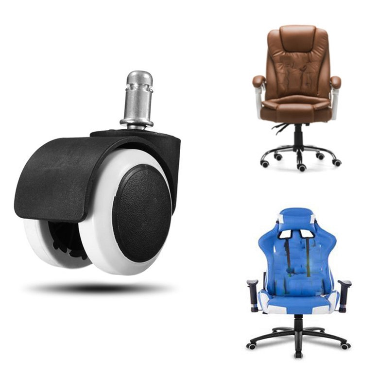 Bag Parts & Accessories Initiative Rubber Dual Swivel Wheel Casters Office Computer Chair Castors Threaded Stem New Easy To Use