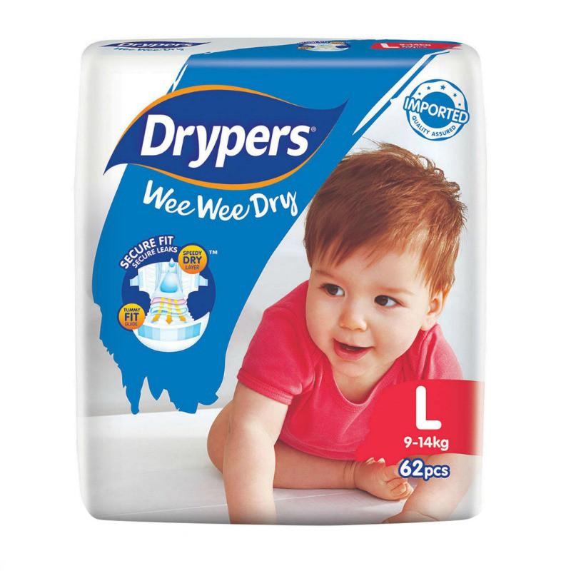 b99c02d45508 Drypers Wee Wee Dry - Large (62pcs pack)