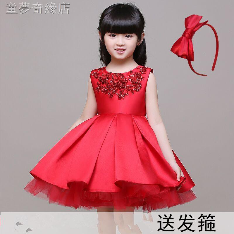 Dress Skirt Flower Girl Red Dress