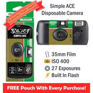 Fujifilm Simple Ace Disposable Film Camera [27 Exp] + FREE