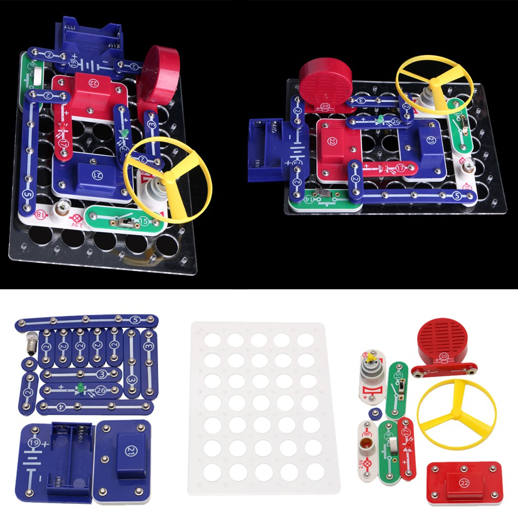 Excelvan W2289 Snap Circuits Electronics Discovery Kit Science Arcade Out Of The Blue Toys Educational Toy Shopee Singapore