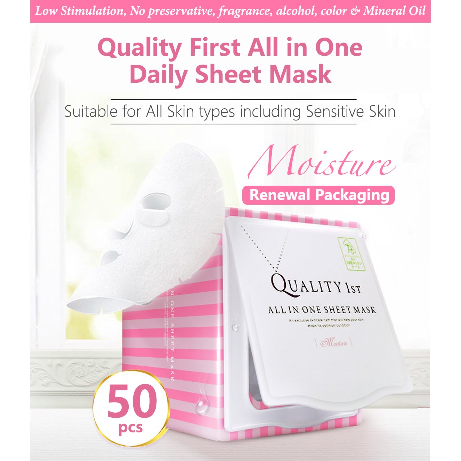 Image result for Quality 1St All In One Daily Sheet Face Mask sheet mask shopee.sg