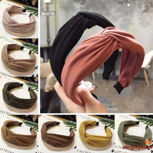 Headwear Knot Twist Hairband Bow Wide Tie Hoop Headband Band AU Hair Women Cross