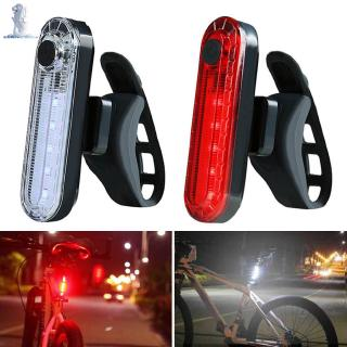 LE USB Rechargeable LED Bicycle Bike Rear Tail Light Red Warning Lights 2 Modes