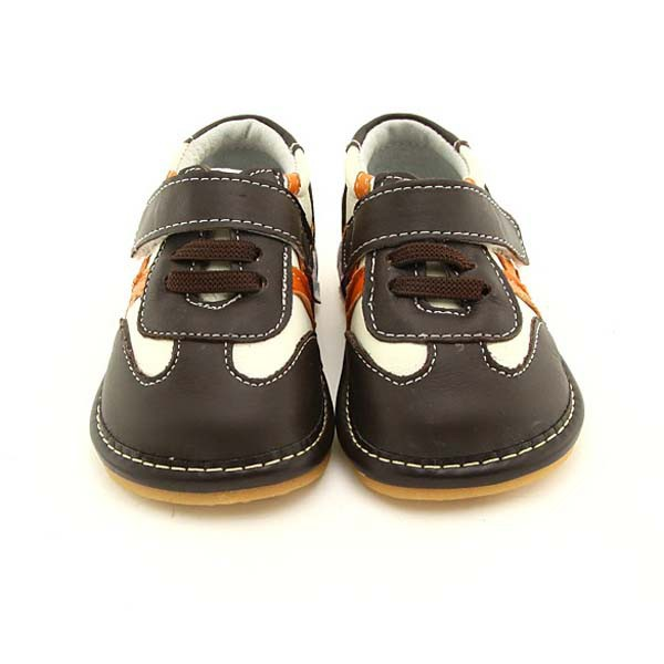 Freycoo - Brown Harvey Squeaky Toddler Shoes