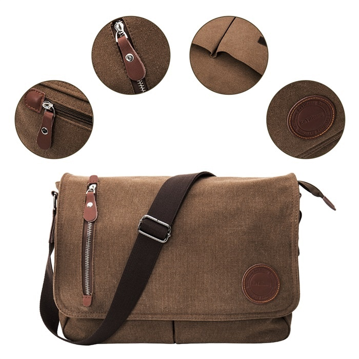 Coffee SY Creative Fashion Multi-Function Mens Bag Casual Mens Chest Bag Diagonal Shoulder Bag Chest Bag for Men