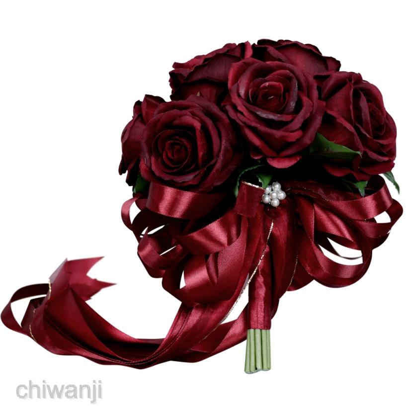 Romantic Rose Flower Bridal Bouquet Wedding Reception Flower Arrangement Shopee Singapore