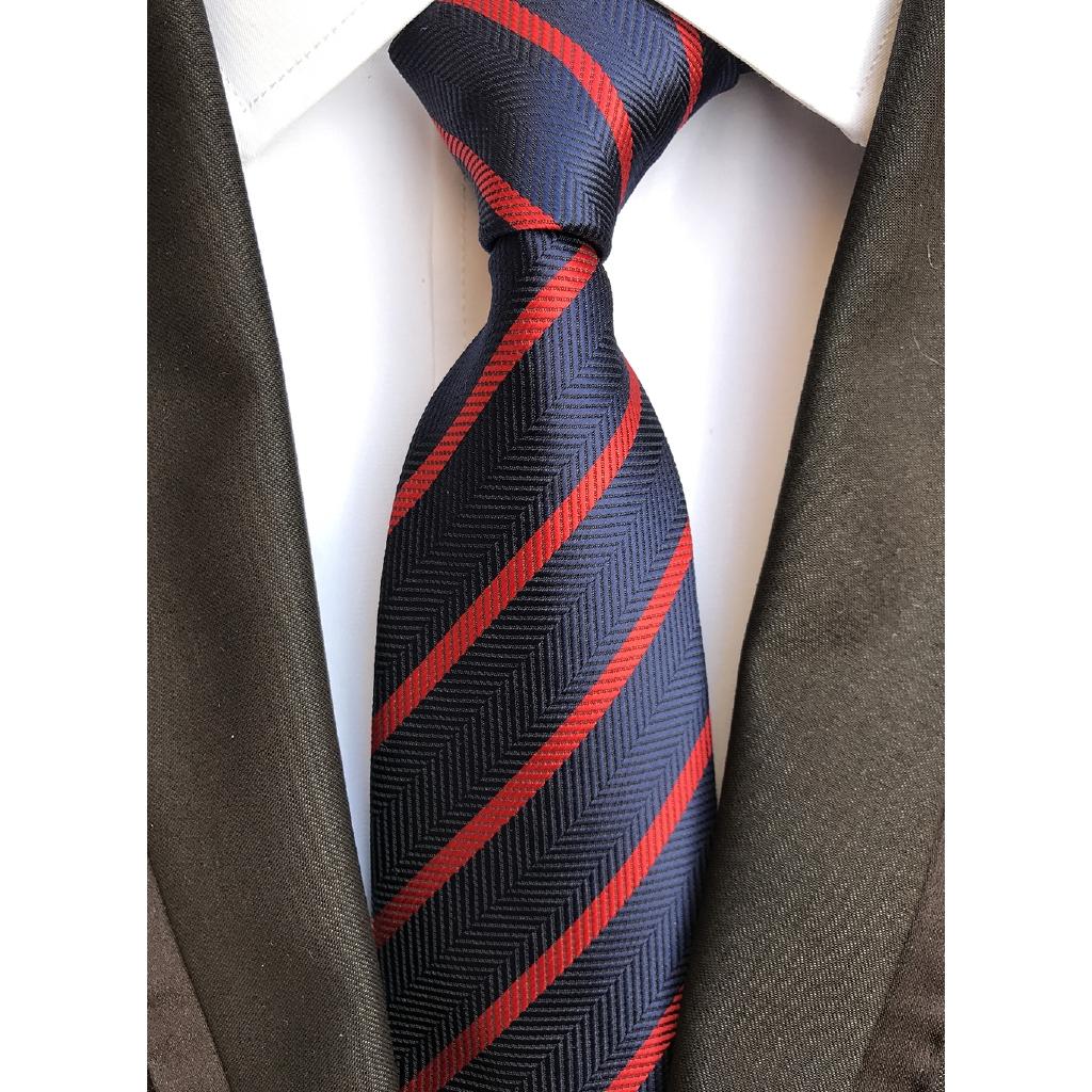 33 Styles Blue White Red Striped 100/% New Silk WOVEN JACQUARD Men/'s Tie Necktie