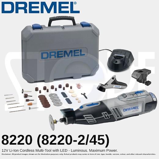 Dremel 8220-2 45 Piece 12V Li-Ion Multi-Tool Kit 1 x 2.0Ah