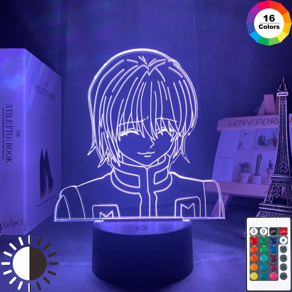 F S Kurapika Figure Acrylic Night Light Anime Gift Hunter X Hunter Lamp For Kid Bedroom Decor Lighting Childrens Room Nightlight Hxh Shopee Singapore