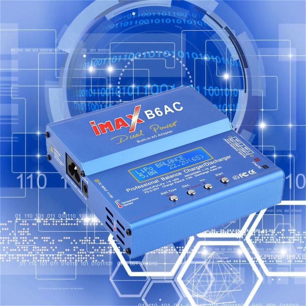 Blue Imax B6 Ac B 6ac Lipo Nimh 3s Rc Battery Balance Charger Of 80w Digital And Hobby Shopee Singapore