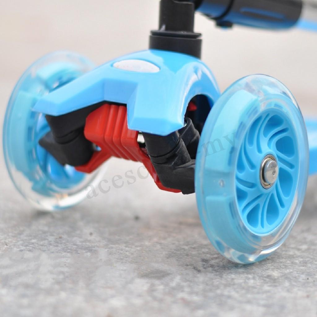 100Mm Led Flash Wheel Mini Or Maxi Micro Scooter Flashing Lights Back Rear ABEC-7