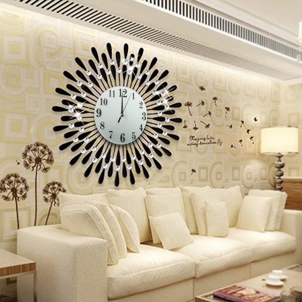 Stylish Wall Clock Wrought Iron Auger Diamond Wall Clock Sitting Room Wall Clock Shopee Singapore