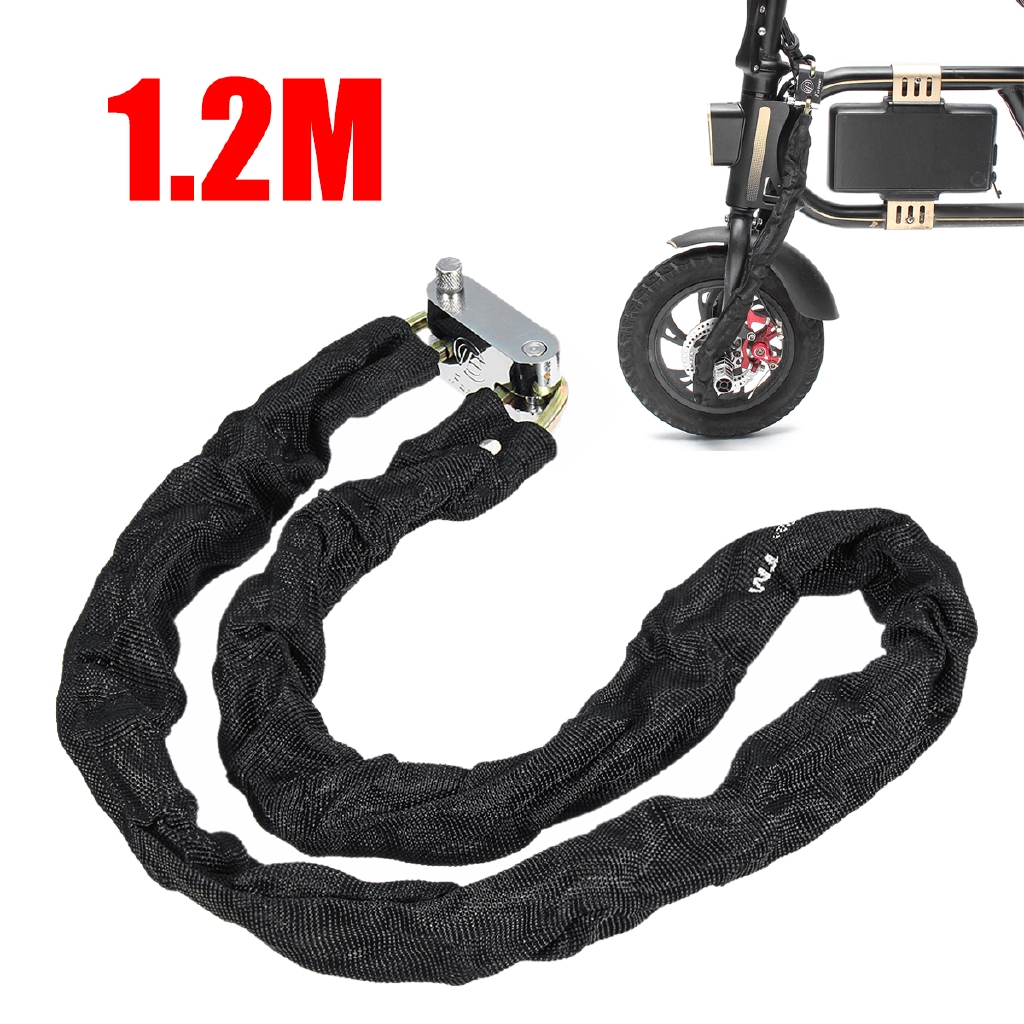 Motorcycle Scooter Bicycle Chain Lock Strong Padlock Heavy Duty Steel 100CM