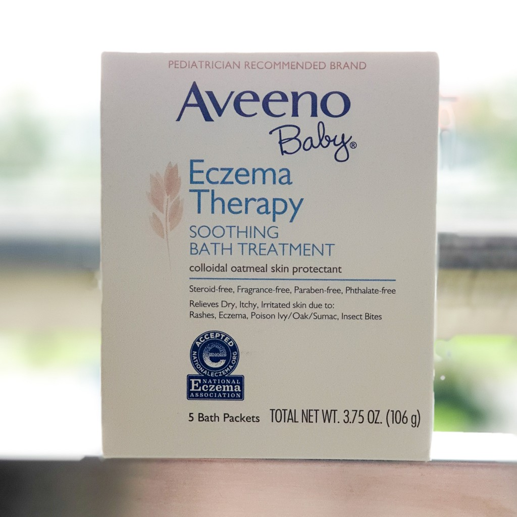 Aveeno Baby Eczema Therapy Soothing Bath Treatment Fragrance Free 106gr