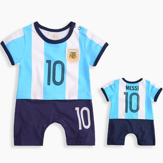 reputable site fbb06 4124d Newborn Baby Romper Argentina No.10 Messi Jersey Infant ...