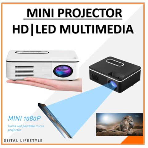 H88 Portable Mini Projector 600 Lumen LED Built-in Speaker Home Media  Player Projector   Shopee Singapore