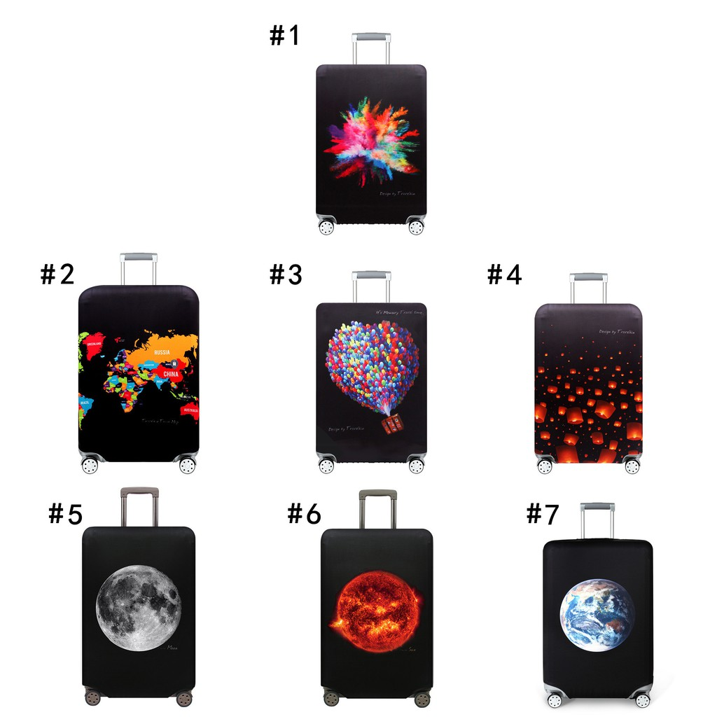 Luggage case protective cover travel case 20//24//28//30 inch thick wear-resistant trolley case cover,#2,L