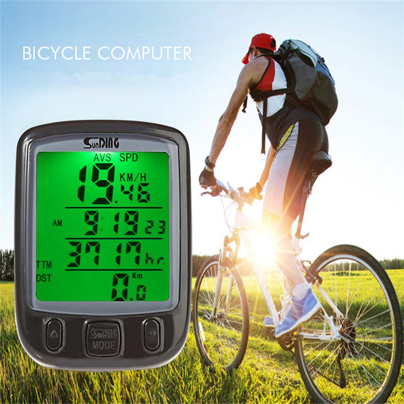 UK Stock Wired LCD Digital Speedometer Waterproof for Bike Cycle Bicycle
