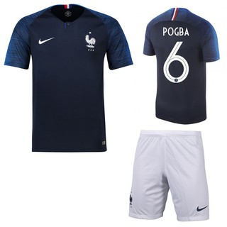 new concept 76a63 a8496 2018 World Cup France National Team NO.6 POGBA Home kit away ...