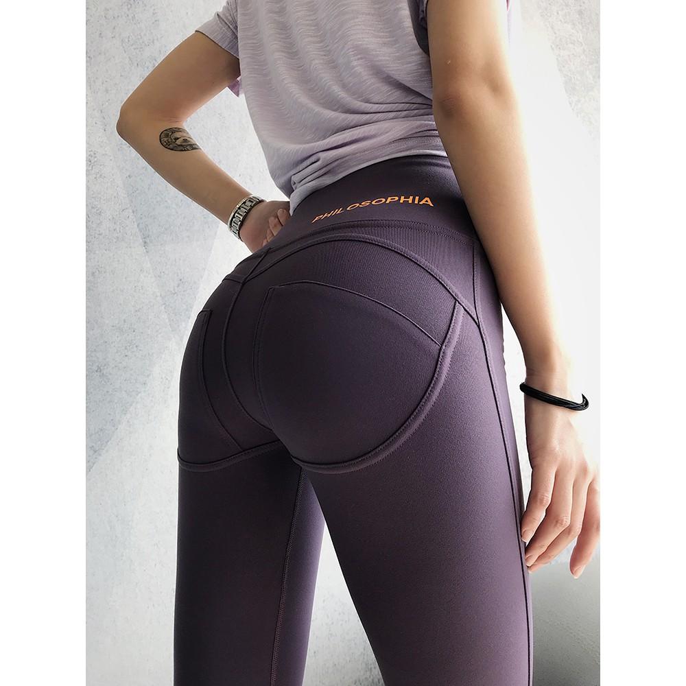 46eee1898c126 Annunun high waist abdomen fitness pants female elastic sports training  tights n   Shopee Singapore