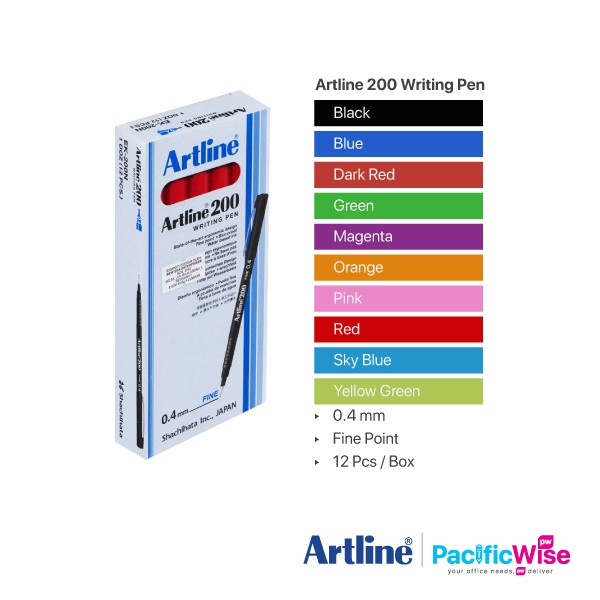 Sakura Pigma Micron Pigment Fineliner Black Blue Red Green Pack of 4-005