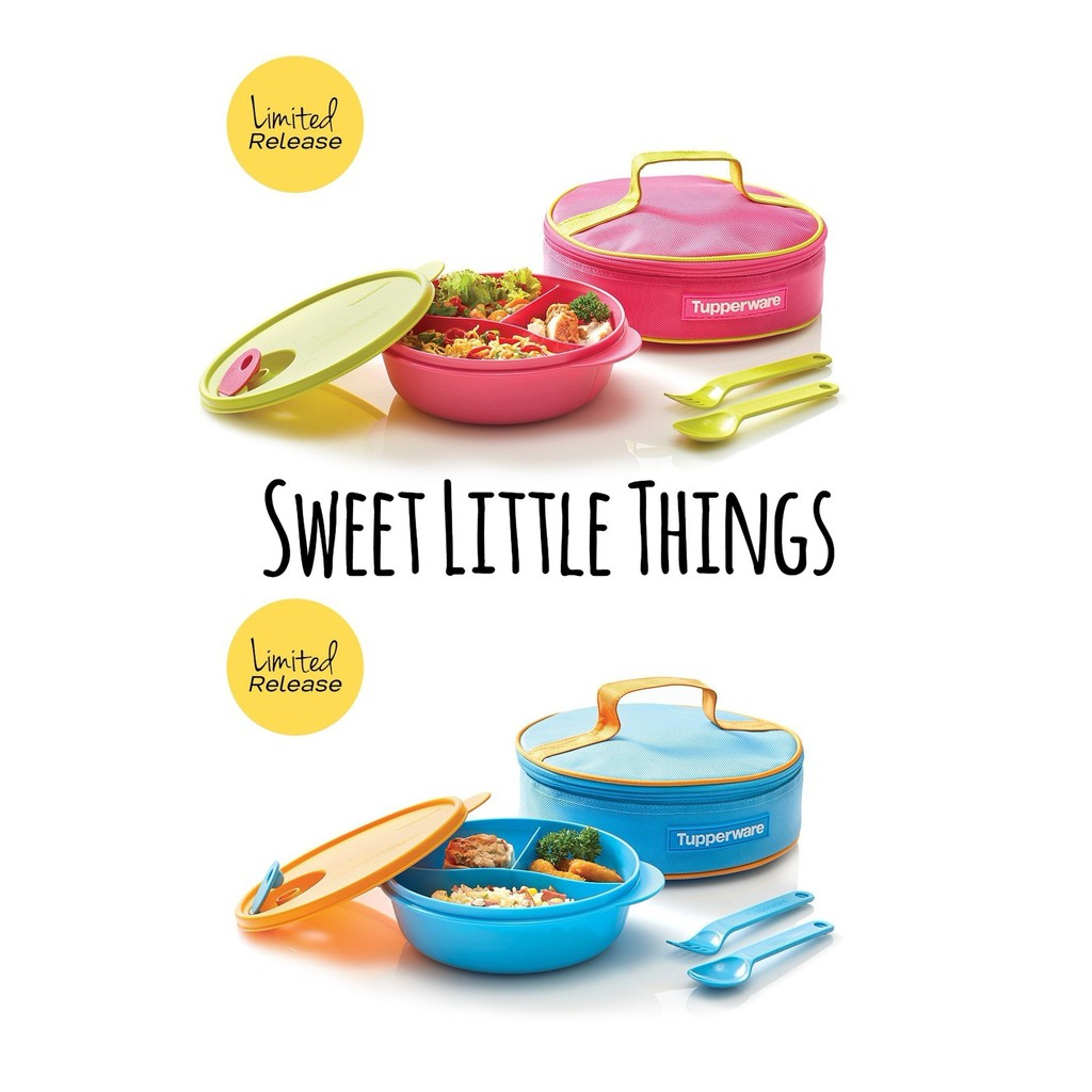 Tupperware New Crystalwave Lunch Set Pink Or Blue Shopee Singapore Bring Your Own