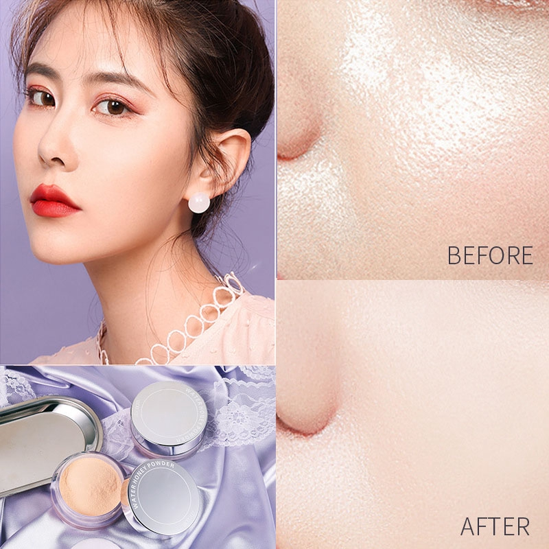 3 Colors Smooth Loose Powder Makeup Transparent Finishing Powder Oil Control Waterproof Cosmetic Puff For Face Finish Setting With Puff Shopee Singapore