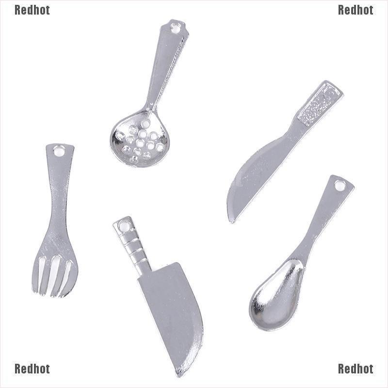 60pcs 1//12 Dollhouse Miniature Alloy Spoons Tableware Kit Accessories Silver
