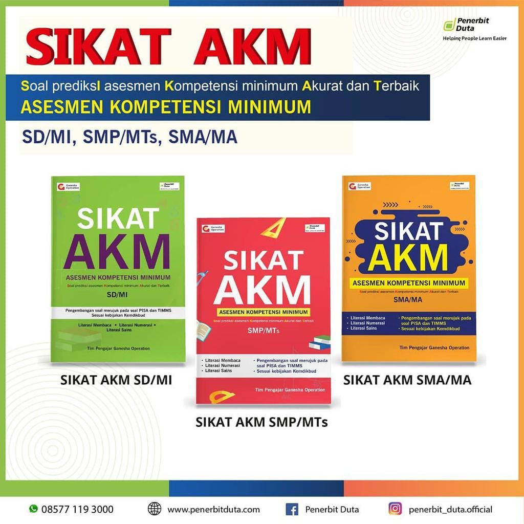 Original Dijamin Akm Book Substitute Un Unbk 2021 Minimum Competency Assessment Sd Smp Sma Shopee Singapore Mas menteri bilang itu untuk melihat situasi cara berpikir anak indonesia. shopee