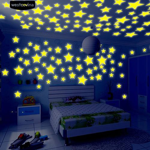 glow in the dark stars ceiling wall stickers baby decal   shopee
