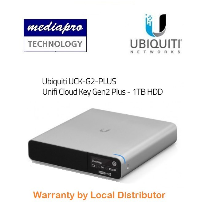 Ubiquiti UCK-G2-PLUS Unifi CloudKey Gen2 Plus-1TB HDD-Local Distributor  Warranty