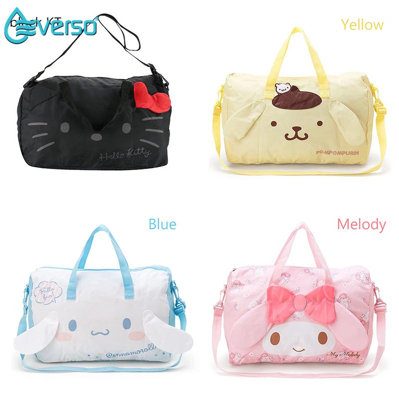 2c0ddbf3e56a Cartoon Hello Kitty travel bag hand luggage bag Organizer Bag Shoulder Bag  sling