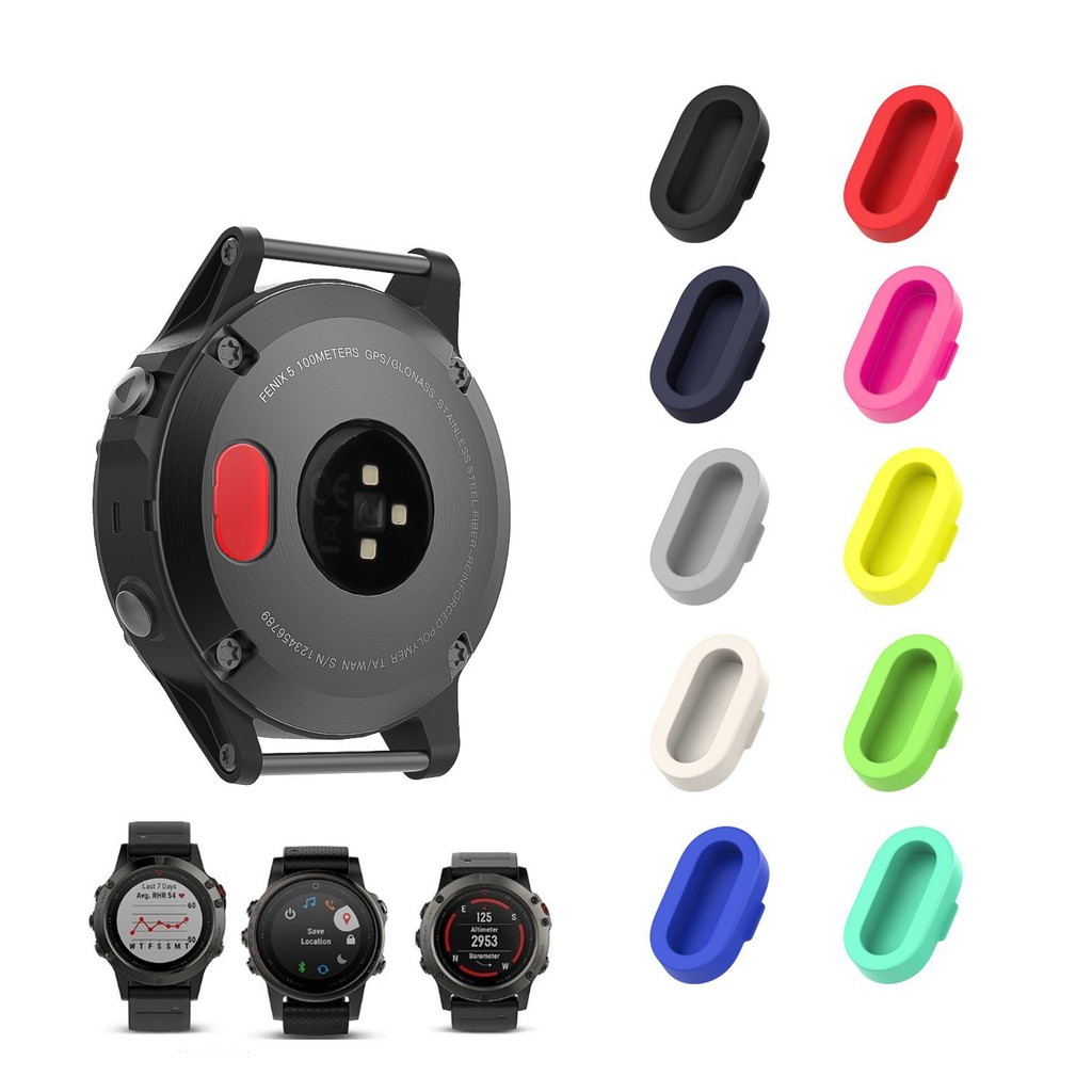 Silicone Anti Dust Proof Plugs Charger Port Protector for Garmin Fenix  5/5S/5X