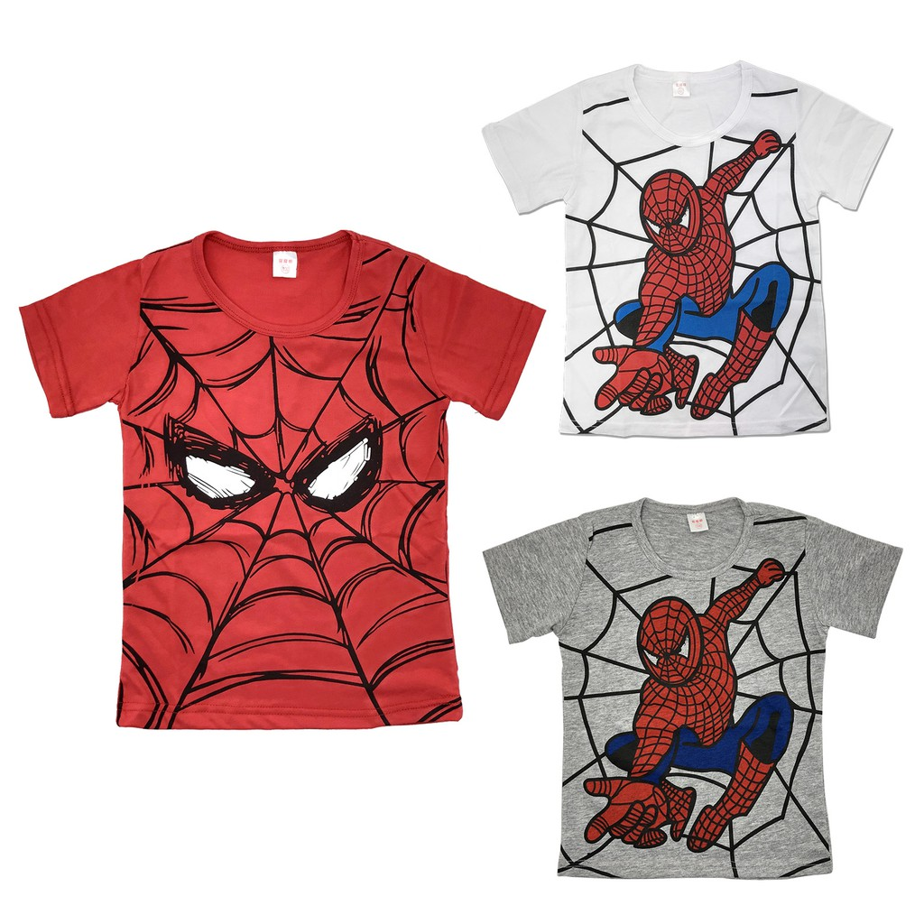 Cosplay PARTY T-SHIRT KIDS BOYS TEE SHIRT TOP SPIDERMAN COTTON CLOTHES
