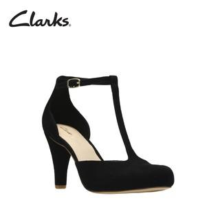 CLARKS Dalia Tulip Black Suede Womens Clarks Retail   Shopee