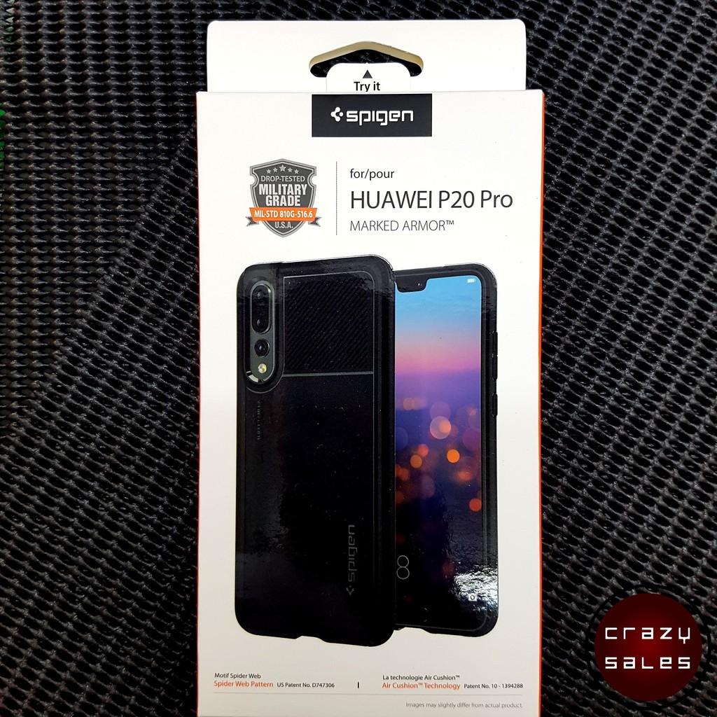 hot sale online 52fe9 5a734 Huawei P20 Pro Spigen Marked Armor Case Cover