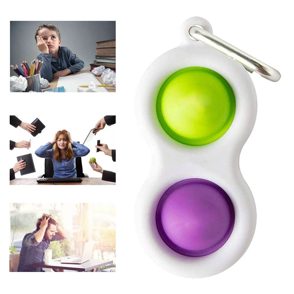 TikTok Pop it Fidget Toy Fat Brain Simpl Dimpl Key Chain Stress Release Toy Silicone Push Pop Educational Toddler Baby Early Learning Toys
