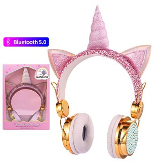 Cute Pikachu Kids Bluetooth 5 0 Headset 7 Colors Led Headphones Support Sd Card Audio Cable Headphone For Boy Girl Gift Children Headphones Shopee Singapore