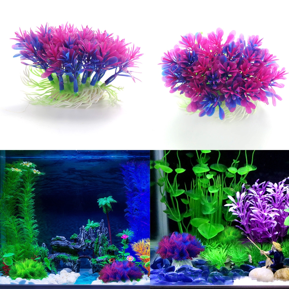 Purple Aquatic Gr Plant Lawn Decor