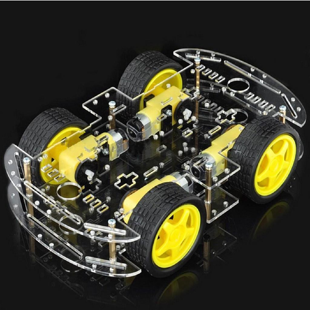 4WD Motor Smart Robot Car Chassis Kits Set W// Speed Encoder DIY Arduino