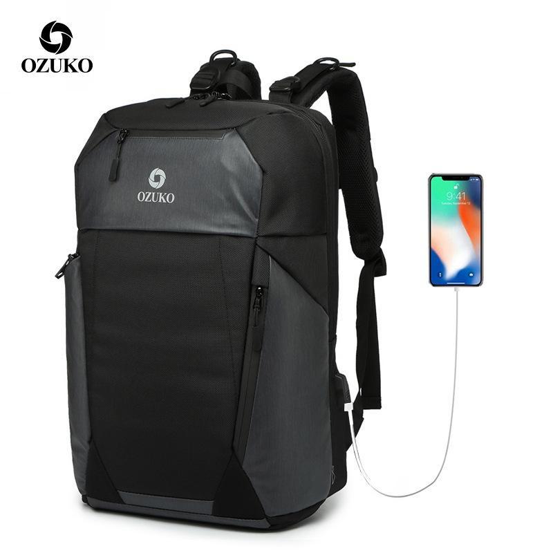 5229e27edeca Large Capacity School Bag Men Backpack Travel luggage Bags 15.6 inch Laptop  bag