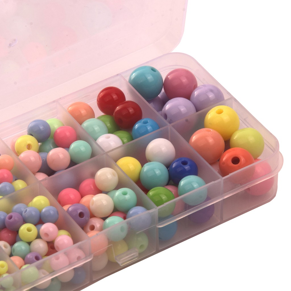 Pearl White 5mm Acrylic//Faux//Plastic Round Spacer Beads ~250 pieces Loose