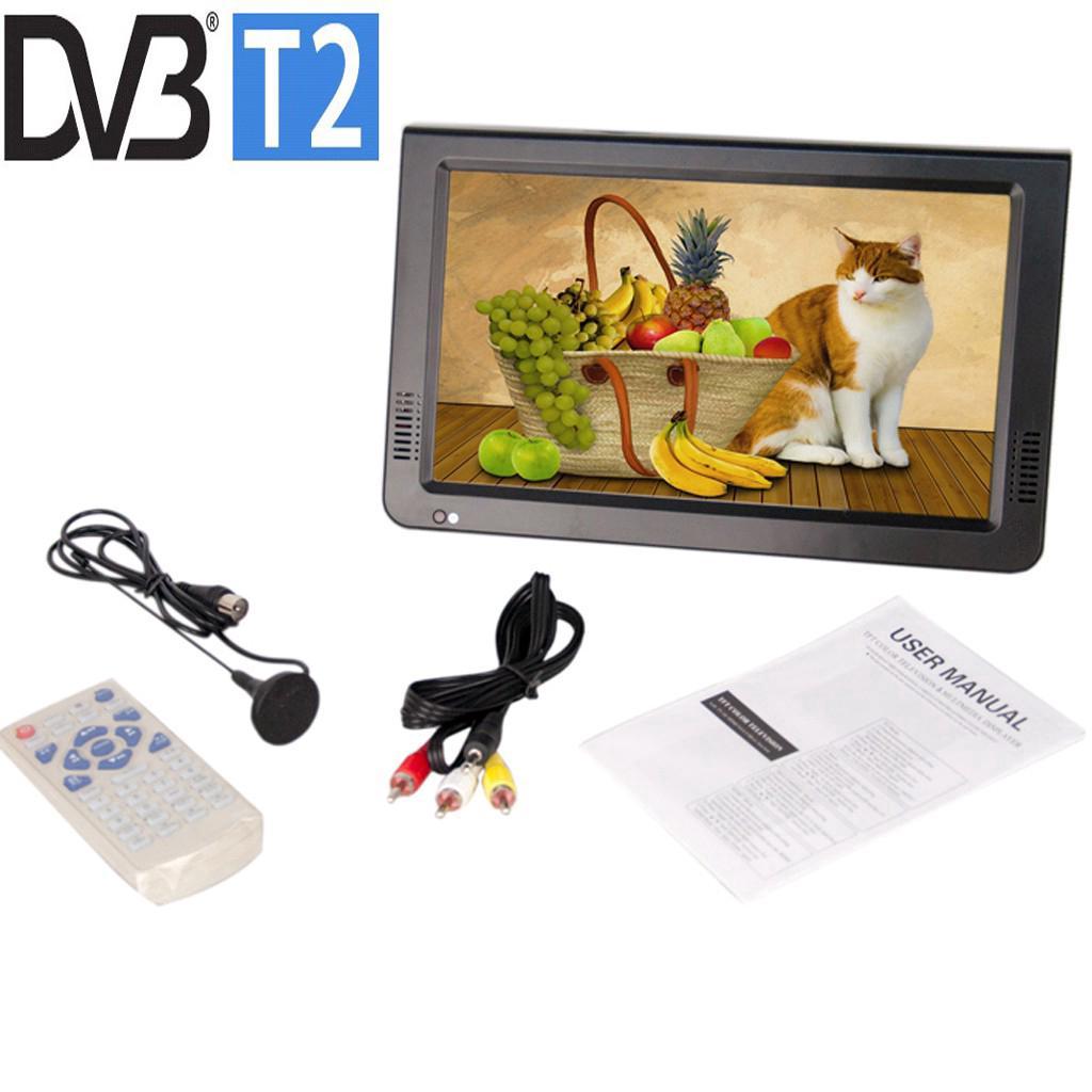 14 Inch Portable Mini Dvb-t2 Digital Tv DTV/ATV/FM/USB/CARD