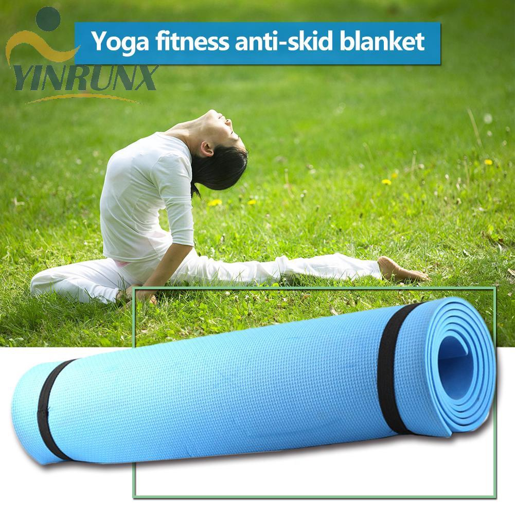 Green Thick Foam Yoga Pilates Gym Mat 6Mm Fitness Gym Exercise Training