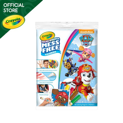 Crayola Color Wonder Mess Free Coloring Pad and Markers Paw Patrol