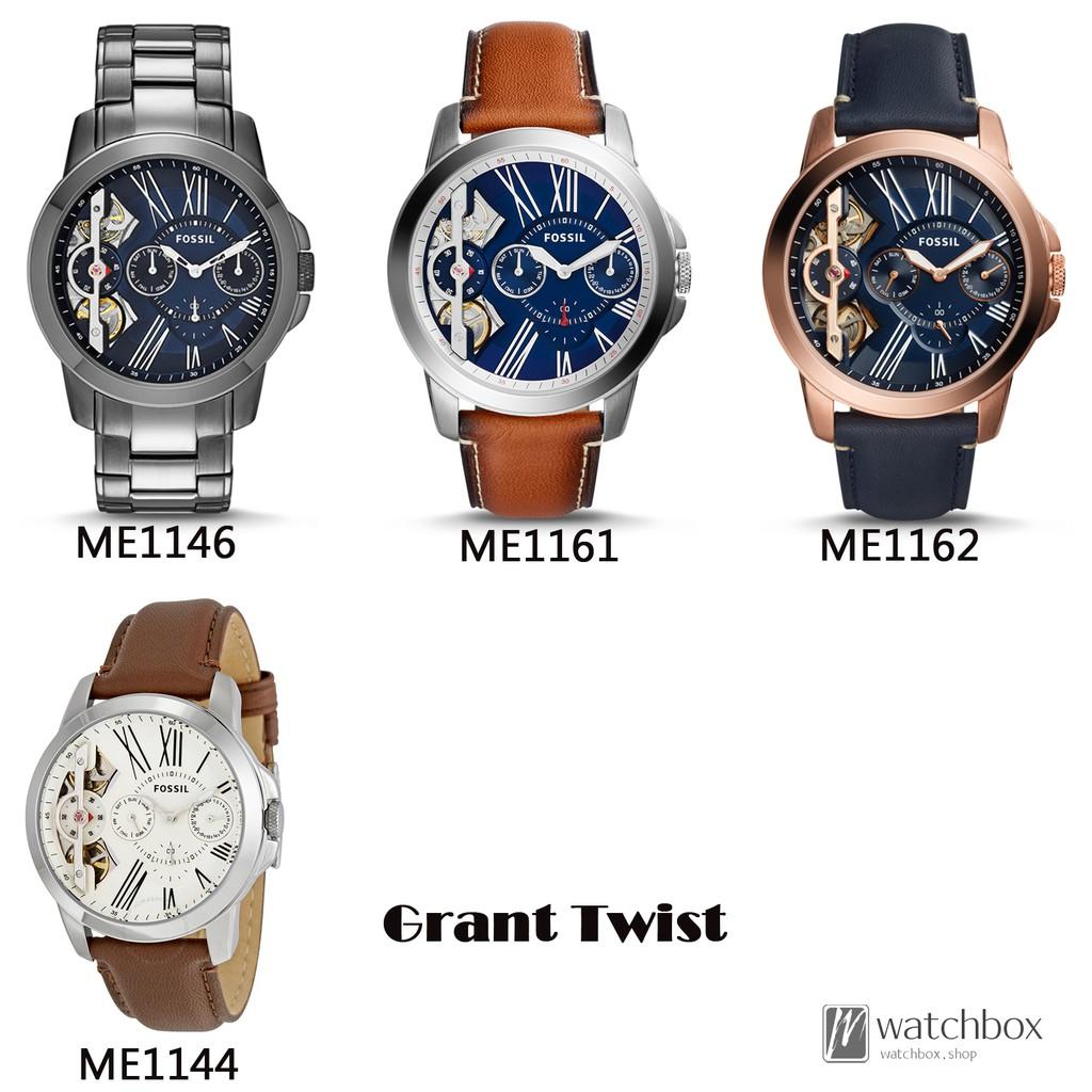 Original Fossil Watch Grant Twist Three Hand Quartz Men 44mm Fs5182 Set Chronograph Leather Shopee Singapore